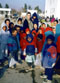 young orphans wearing new clothing donated by Tesco
